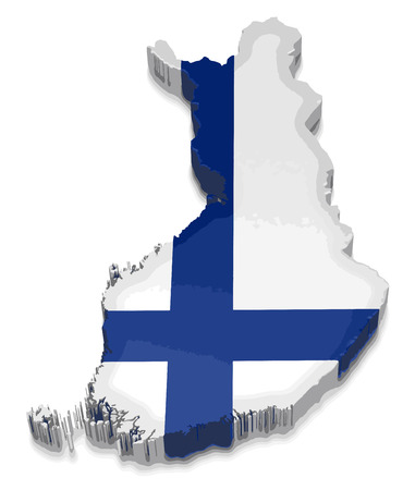 physical geography: map of finland
