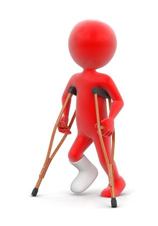 gyps: Man and Crutches