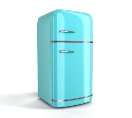 refrigerator: Retro refrigerator.