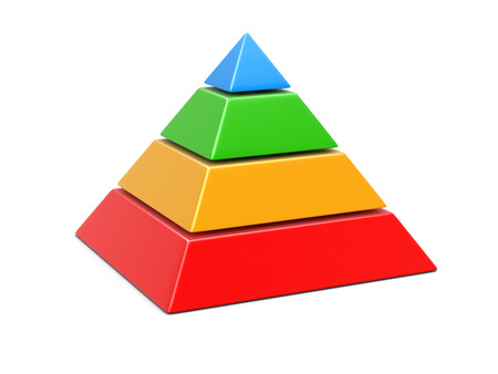 pyramid Chart. Image with clipping path Reklamní fotografie