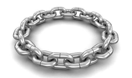 chain links: chain links united in ring.