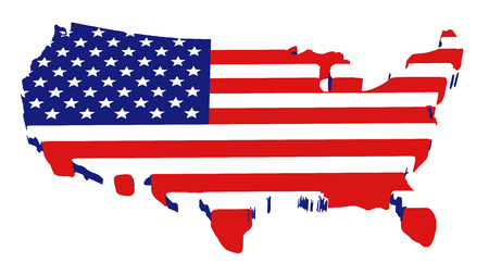 physical geography: map of usa