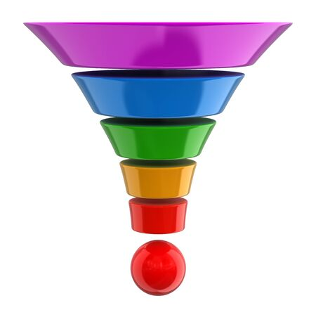separating funnel: 3d cone. Image with clipping path
