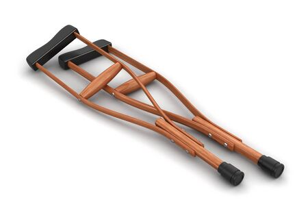 physical impairment: Crutches. Image with clipping path