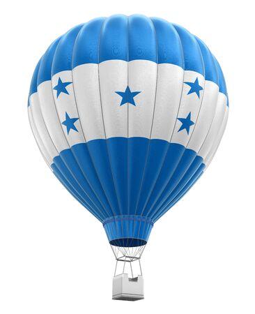bandera de honduras: Globo de aire caliente con el indicador de Honduras. Imagen con trazado de recorte