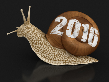 overtake: Snail 2016. Image with clipping path