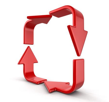 bucle: Flecha bucle. Imagen con el camino de recortes