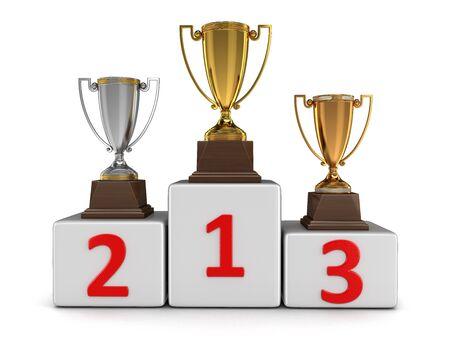 rewarding: Rewarding. Image with clipping path Stock Photo