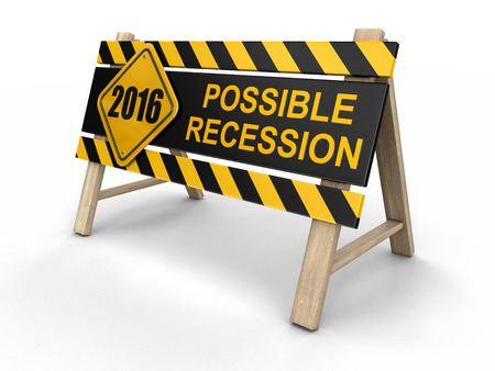 economic depression: Possible recession sign. Image with clipping path
