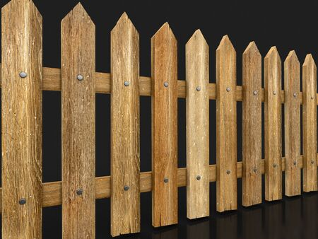 fence: Wooden fence. Image with clipping path Stock Photo