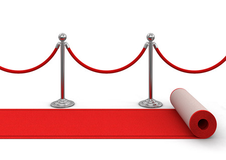 stanchion: Red Carpet and stanchions. Image with clipping path