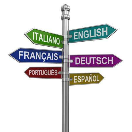 green street: Sign Directions. Image with clipping path