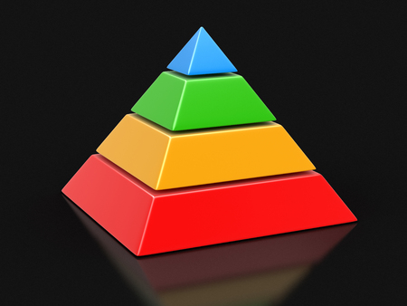 moving images: pyramid Chart. Image with clipping path Stock Photo