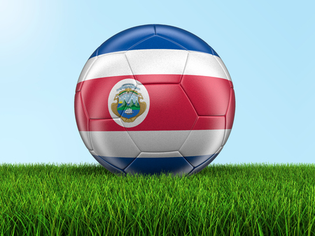 costa rican flag: Soccer football with Costa Rican flag. Image with clipping path