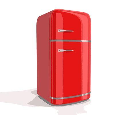 storage compartment: retro refrigerator