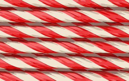 indulgence: candy cane background Illustration