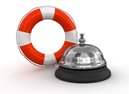 service bell: Service bell and Lifebuoy Illustration