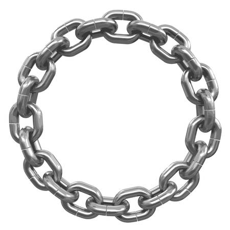 chain links: chain links united in ring Illustration