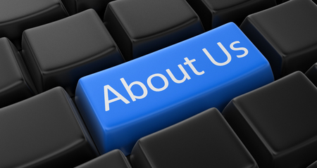 about us: About us key concept Stock Photo
