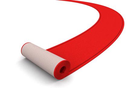 Red Carpet clipping path included Foto de archivo