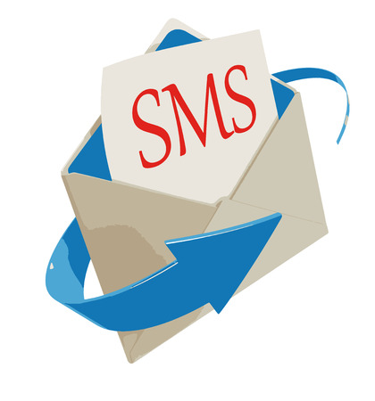 sms: Letter SMS Illustration