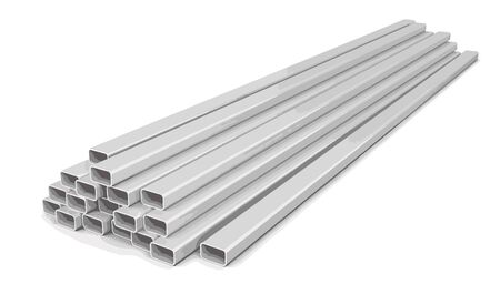steel pipes: steel pipes Illustration
