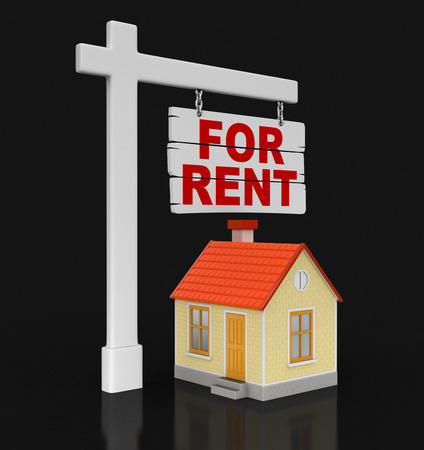 house for rent: House for rent. Image with clipping path.
