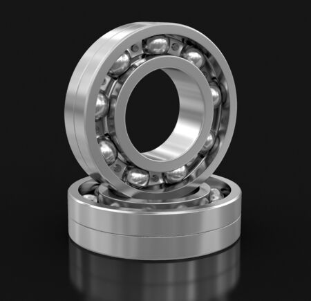hubcap: Bearing. Image with clipping path