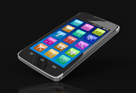 touchscreen: Touchscreen smartphone. Image with clipping path.