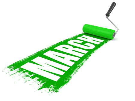 paintroller: Paint roller with march. Image with clipping path