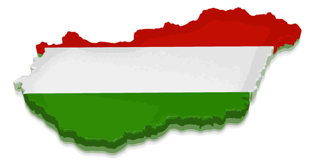 physical geography: Map of Hungary Illustration