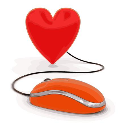 Coeur avec Souris
