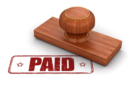 stamp of paid: Stamp Paid. Image with clipping path