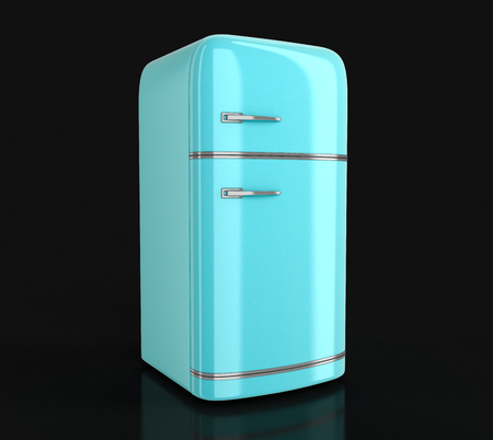 frig: Retro refrigerator. Image with clipping path