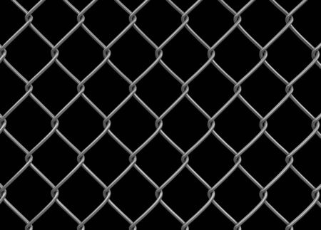 Chainlink fence. Image with clipping path Stock Photo