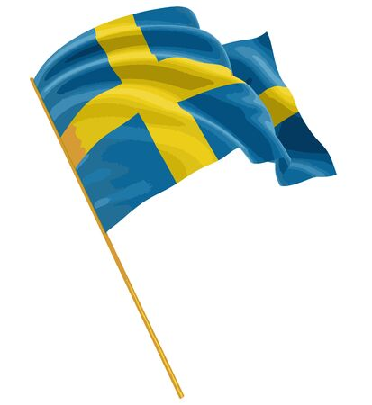 swedish: 3D Swedish flag with fabric surface texture