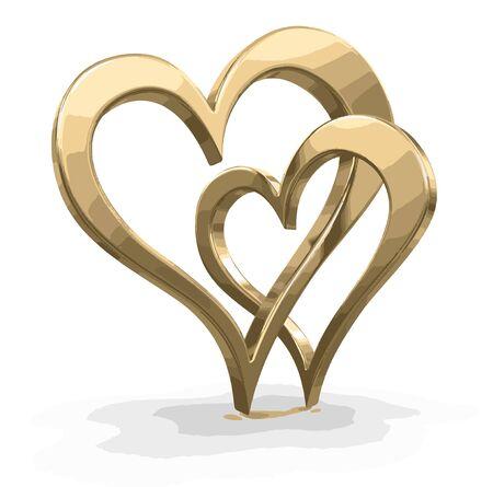 bound: Two bound hearts Illustration
