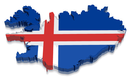 physical geography: Map of Iceland Illustration