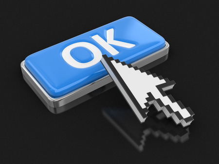 option key: Cursor and button OK. Image with clipping path
