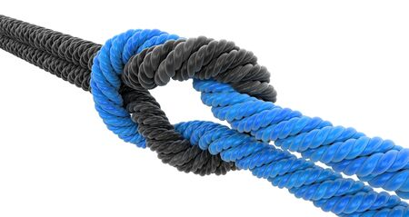 digitally concepts: Tied knot. Image with clipping path Stock Photo