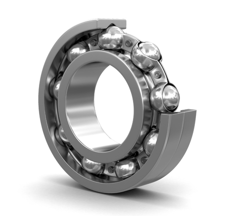 belt up: Bearing. Image with clipping path