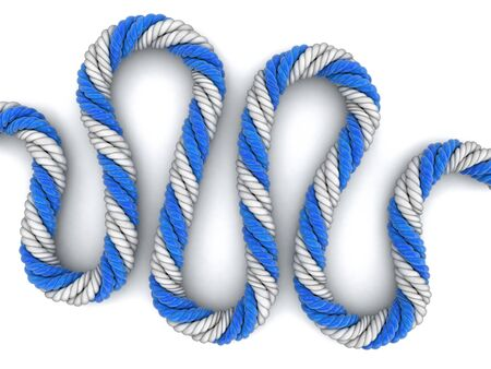 digitally concepts: Rope. Image with clipping path