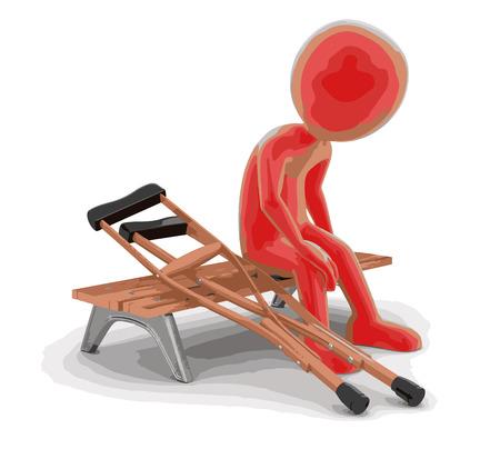 misfortune: man on bench