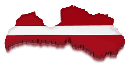 physical geography: Map of Latvia