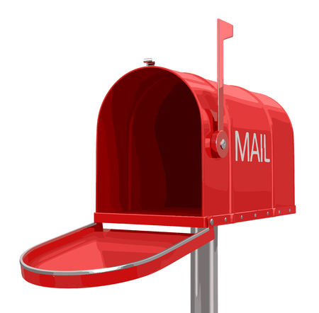registered mail: open mailbox