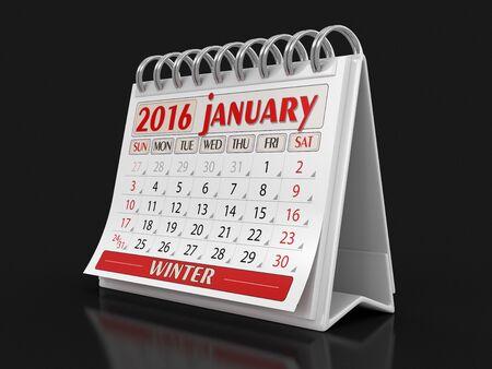 the january: Calendario - Enero el a�o 2016