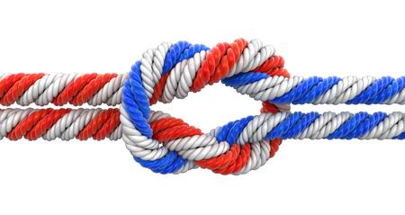 nylon string: tied knot