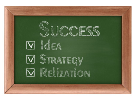 path to success: Blackboard with Success. Image with clipping path