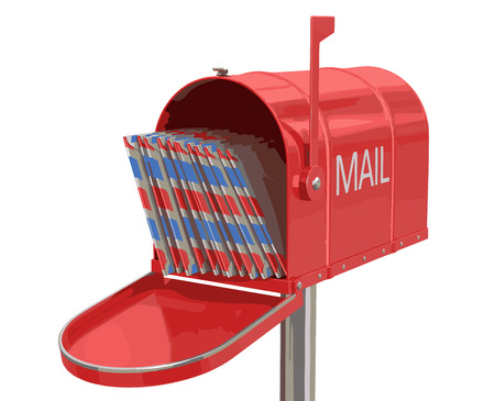 package sending: Open mailbox with letters