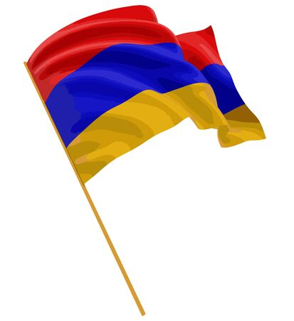 armenian: 3D Armenian flag Illustration